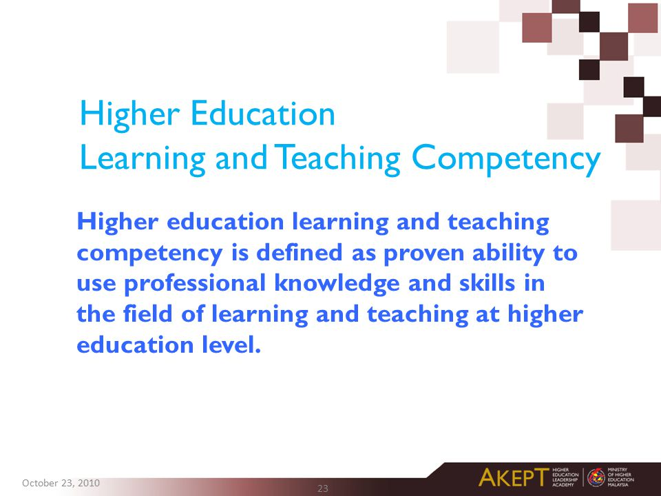 Higher Education Learning and Teaching Competency