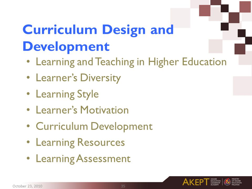 Curriculum Design and Development