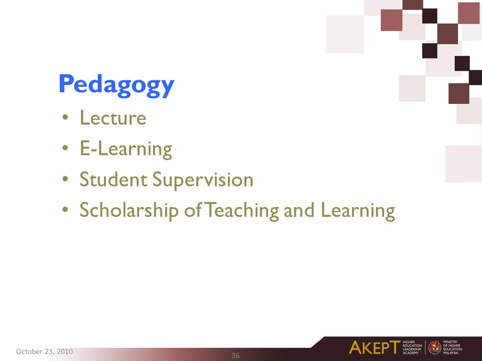 Pedagogy Lecture E-Learning Student Supervision
