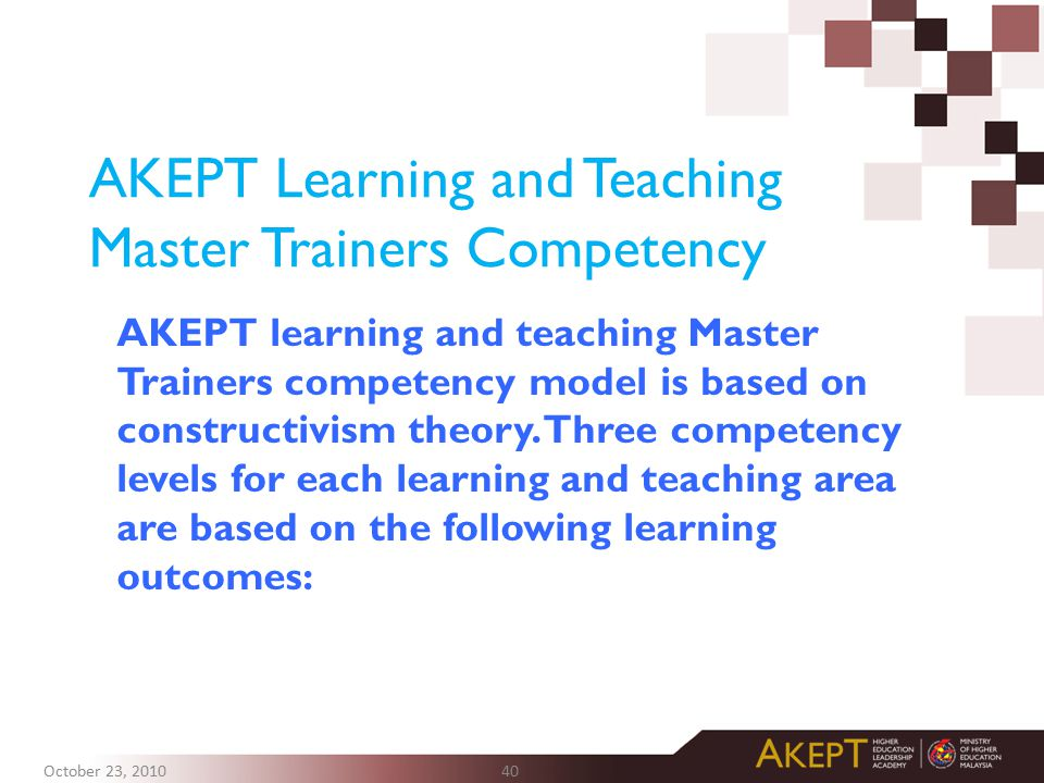 AKEPT Learning and Teaching Master Trainers Competency