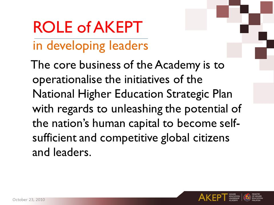 ROLE of AKEPT in developing leaders