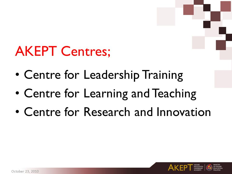AKEPT Centres; Centre for Leadership Training