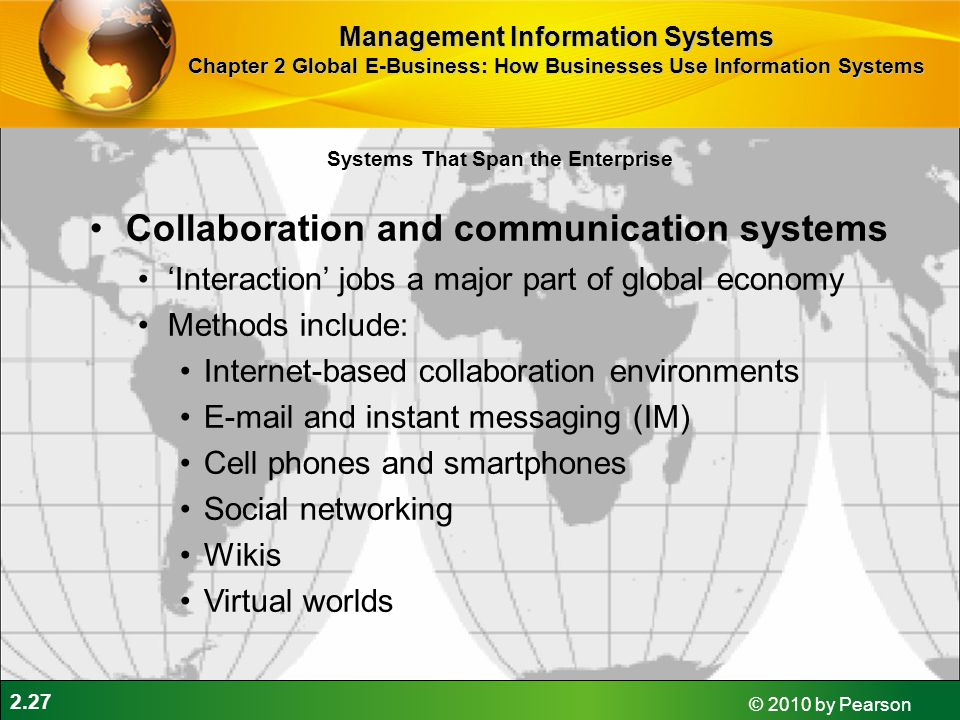 Collaboration and communication systems