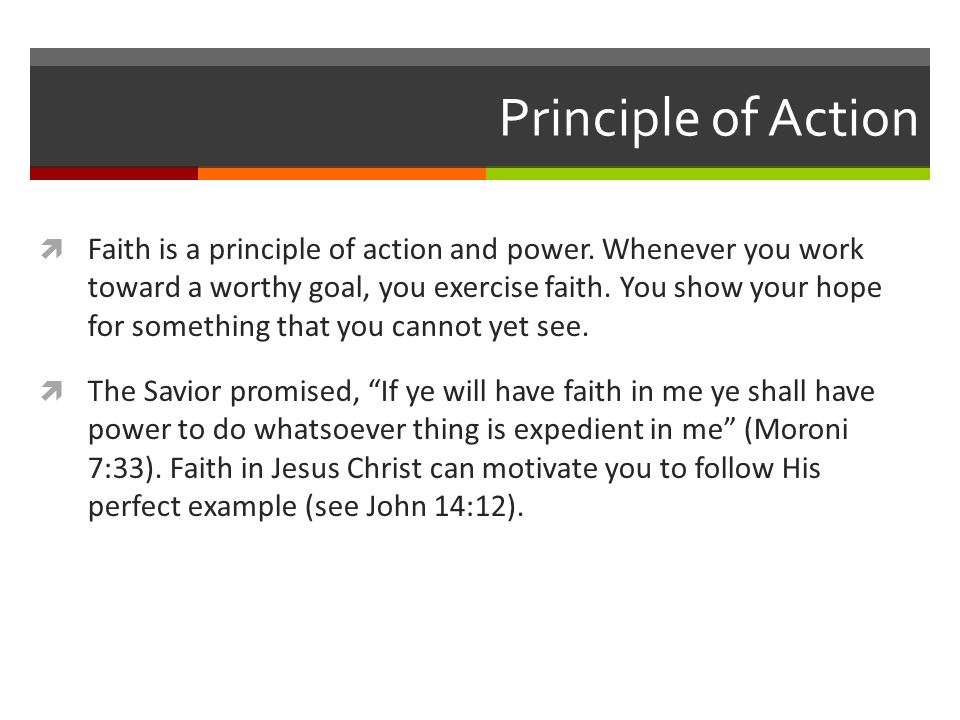 Principle of Action