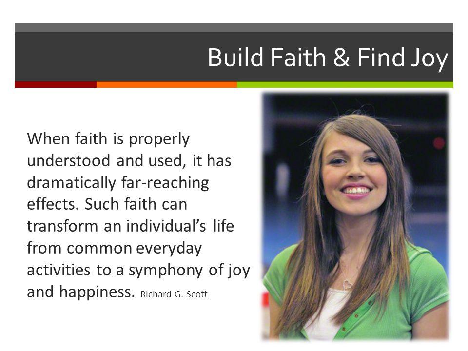 Build Faith & Find Joy
