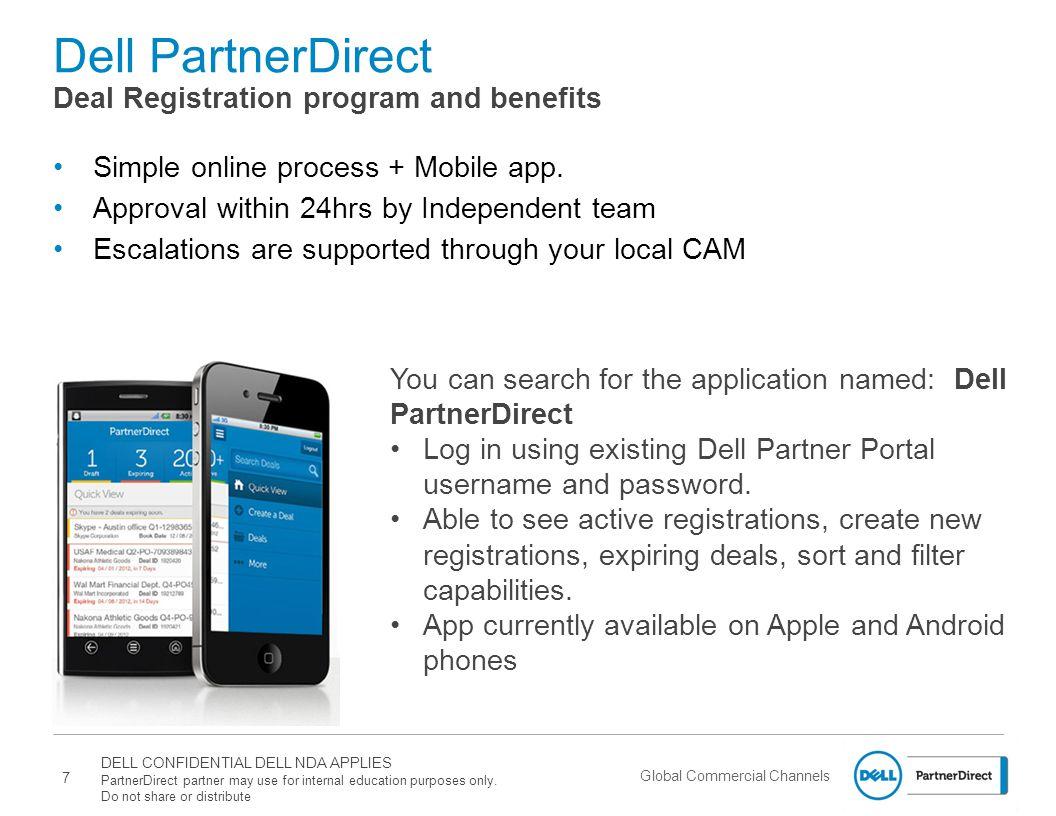 Dell PartnerDirect Deal Registration program and benefits