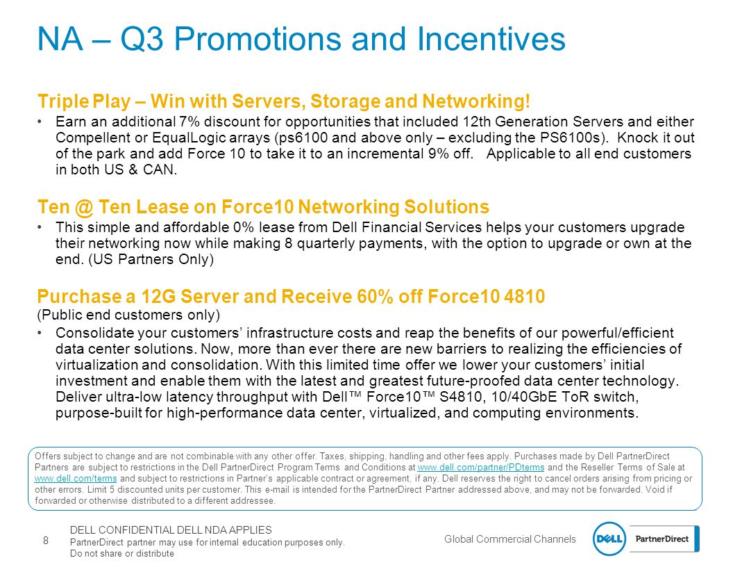 NA – Q3 Promotions and Incentives
