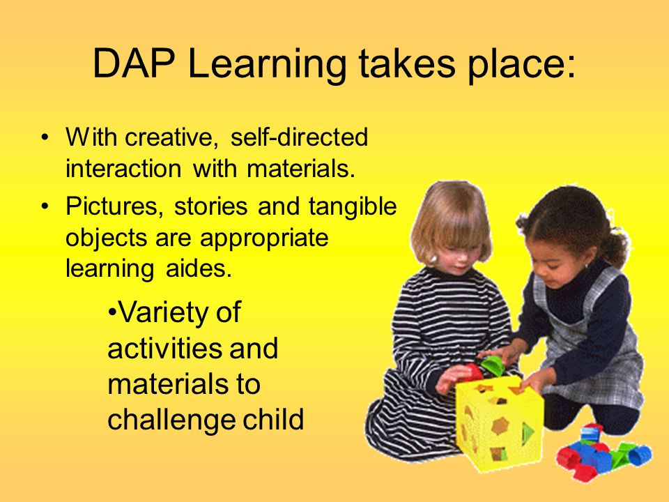 DAP Learning takes place: