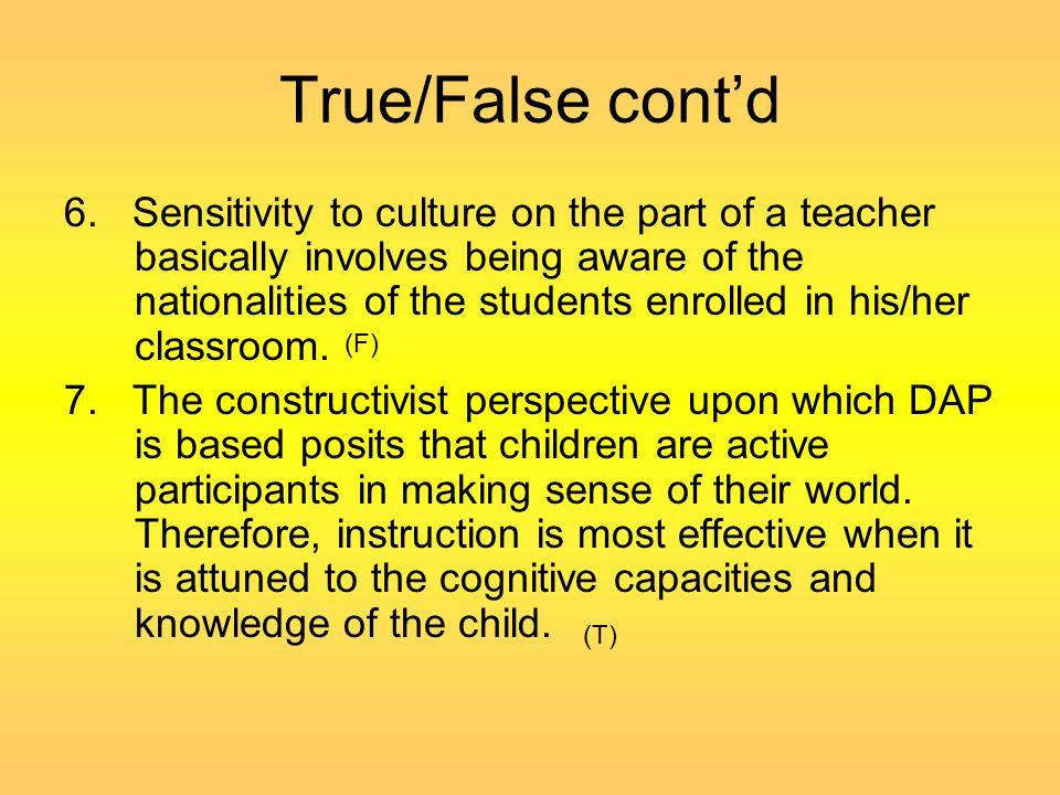 True/False cont'd