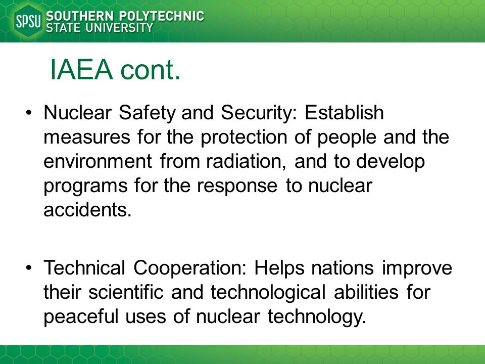 Peaceful uses for nuclear technology essay