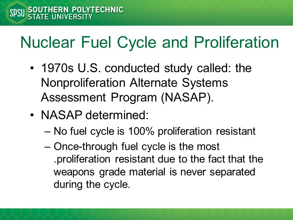 Nuclear Fuel Cycle and Proliferation