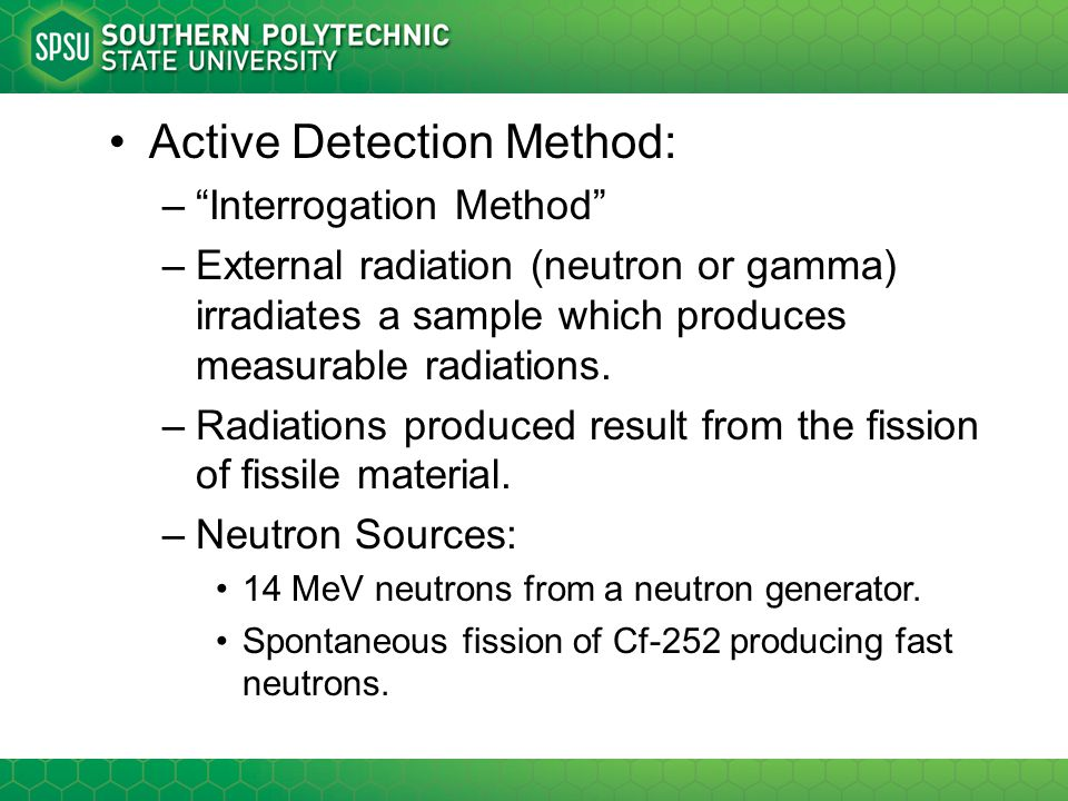 Active Detection Method: