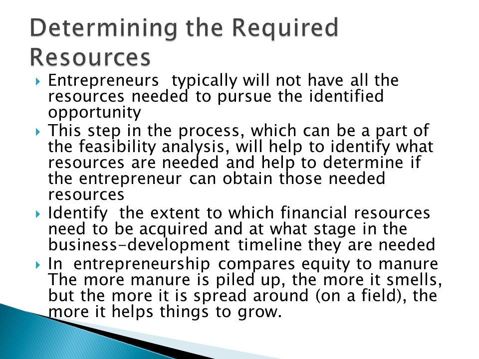 Determining the Required Resources
