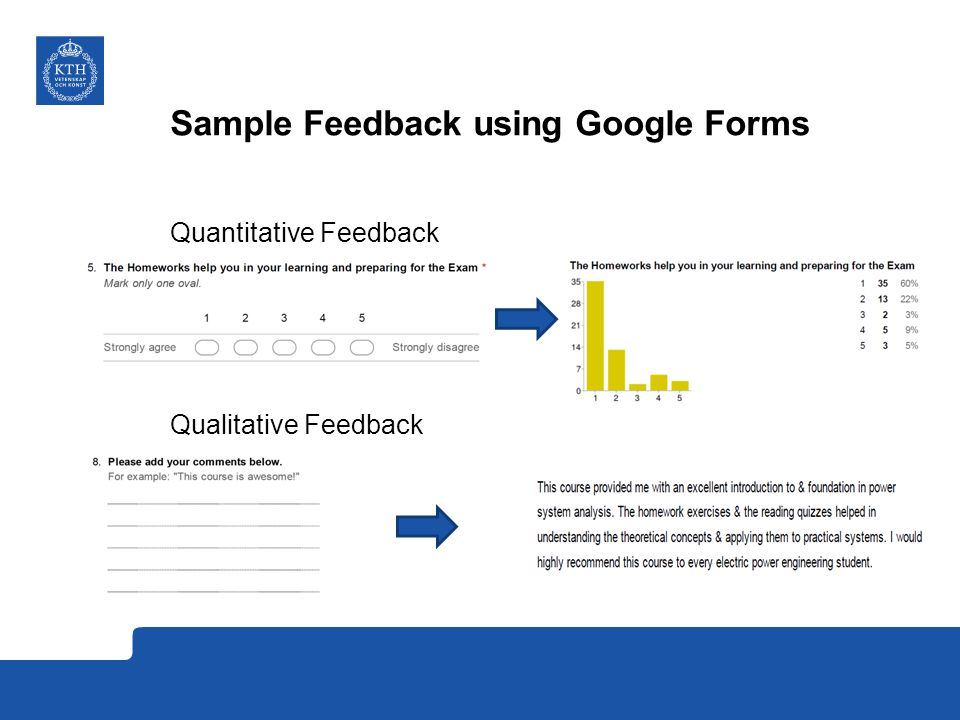 Sample Feedback using Google Forms
