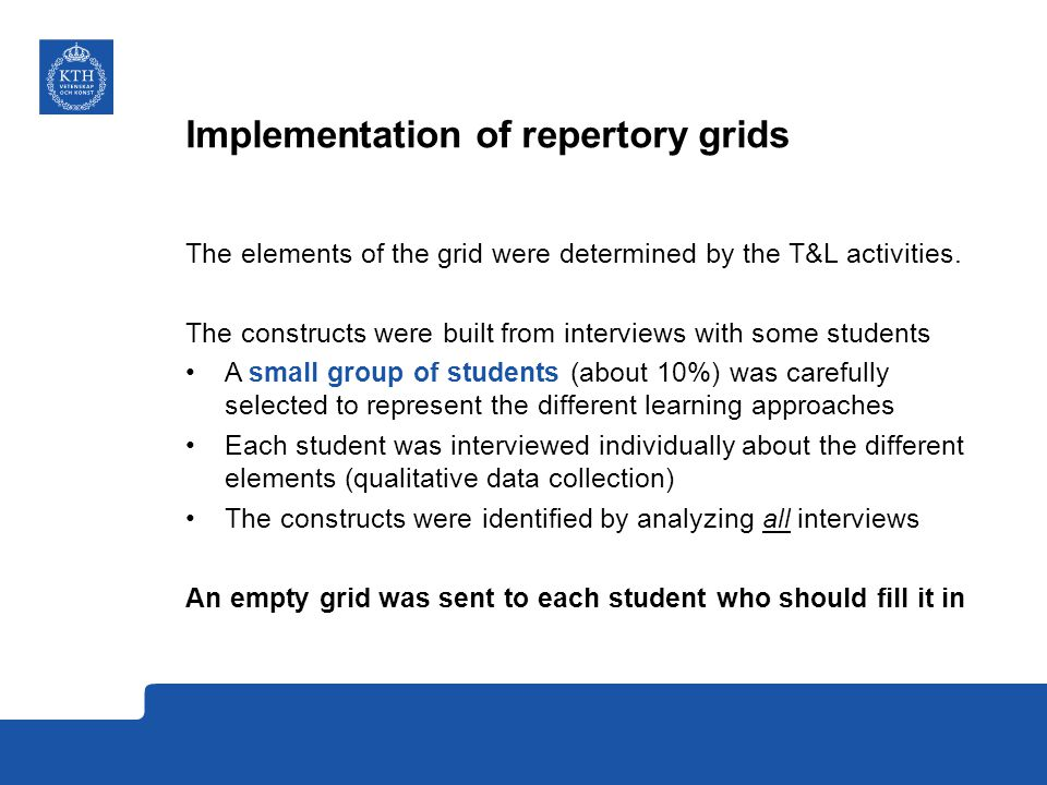 Implementation of repertory grids