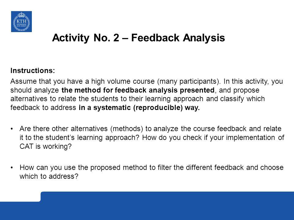 Activity No. 2 – Feedback Analysis