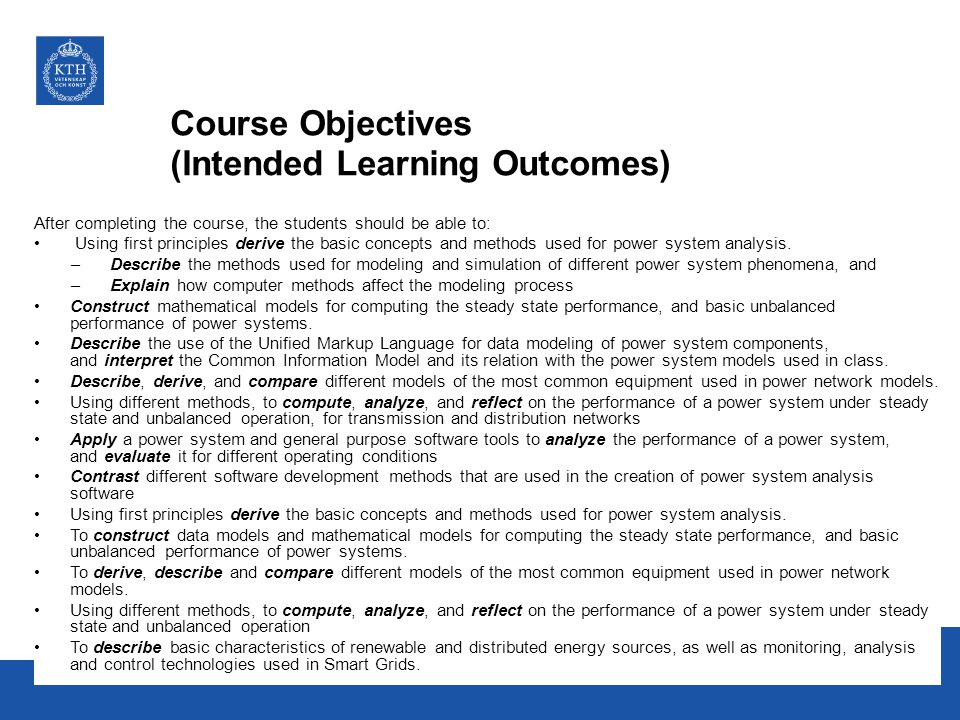 Course Objectives (Intended Learning Outcomes)
