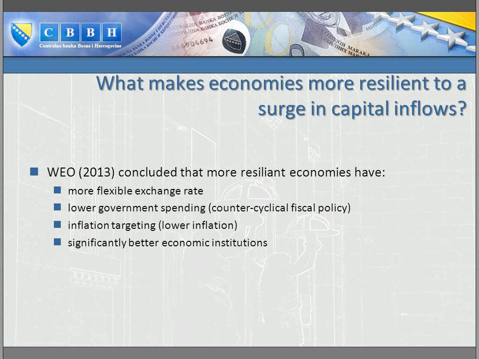What makes economies more resilient to a surge in capital inflows