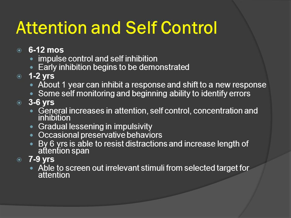 Attention and Self Control