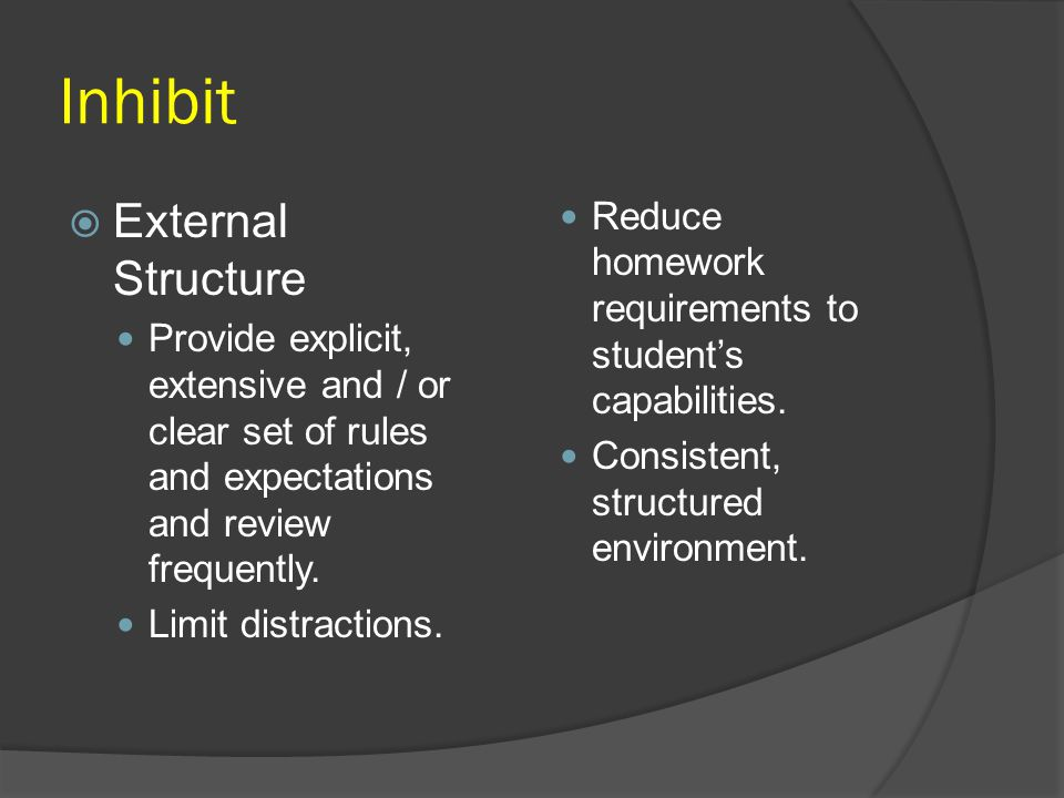 Inhibit External Structure