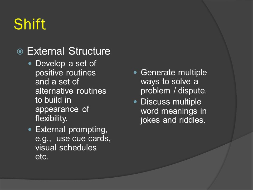 Shift External Structure