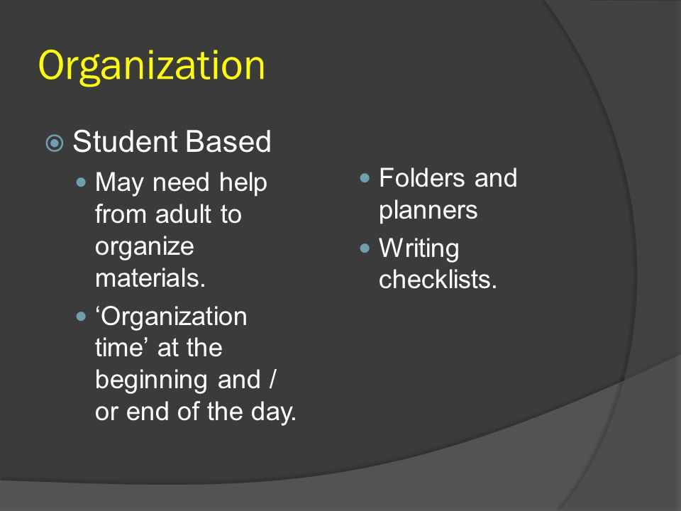 Organization Student Based Folders and planners