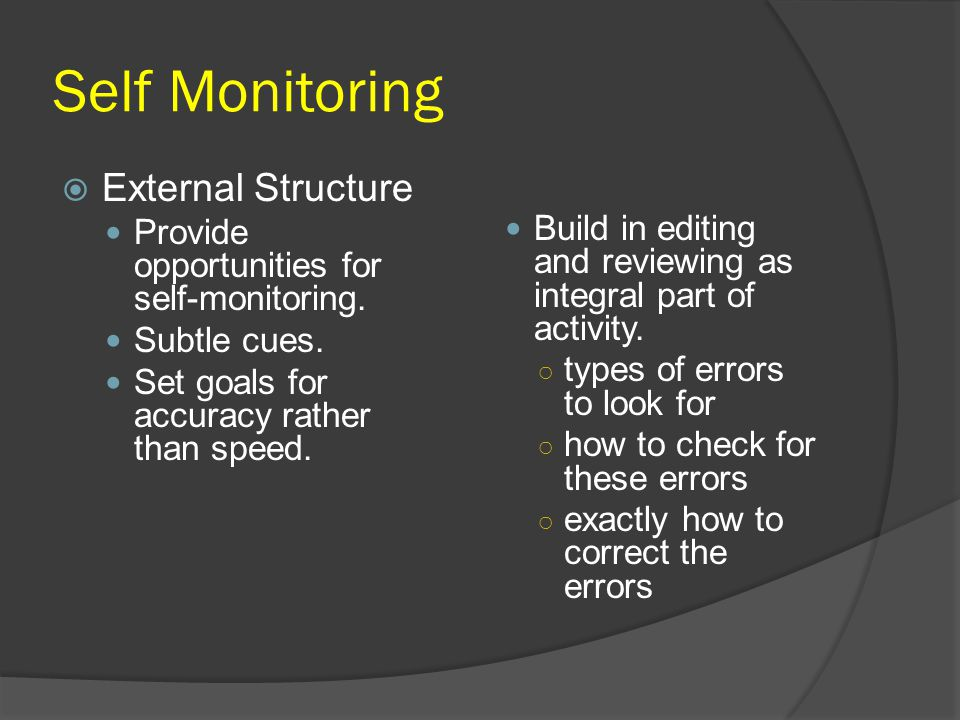 Self Monitoring External Structure