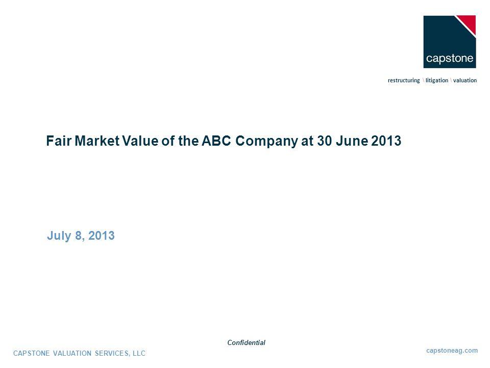 Fair Market Value of the ABC Company at 30 June 2013