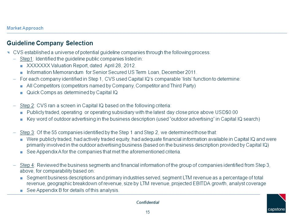 Guideline Company Selection