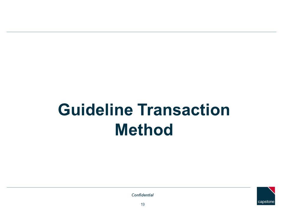 Guideline Transaction Method
