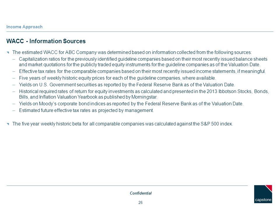 WACC - Information Sources