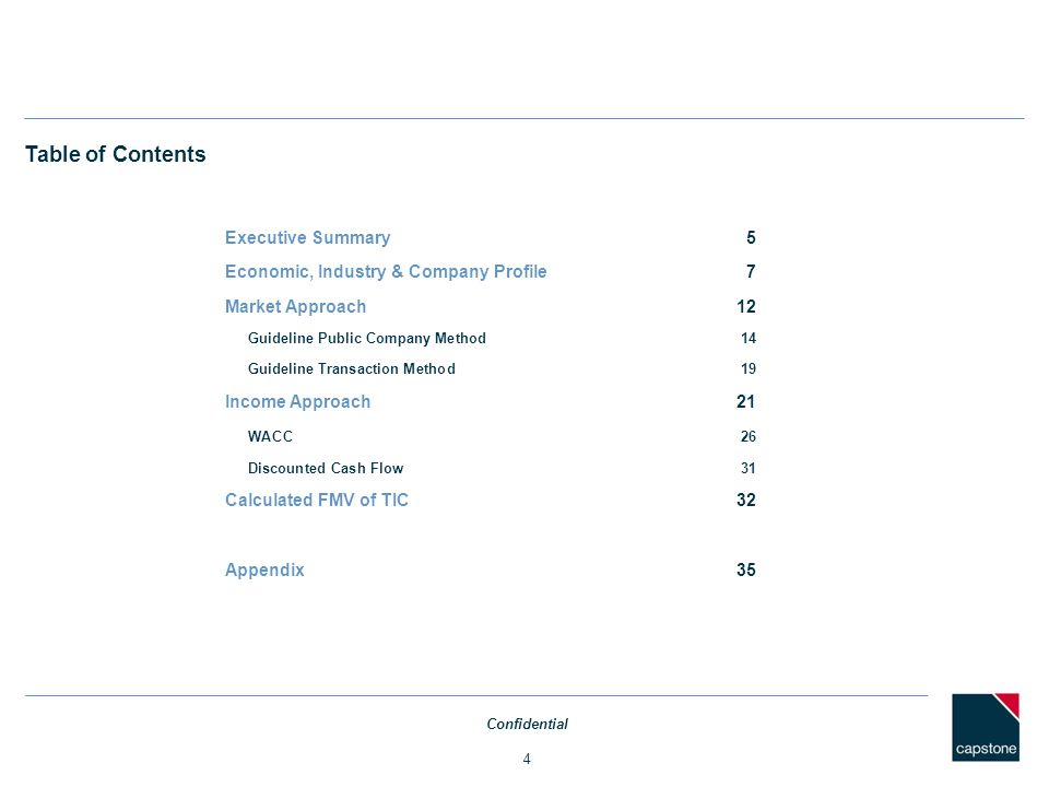 Table of Contents Executive Summary 5