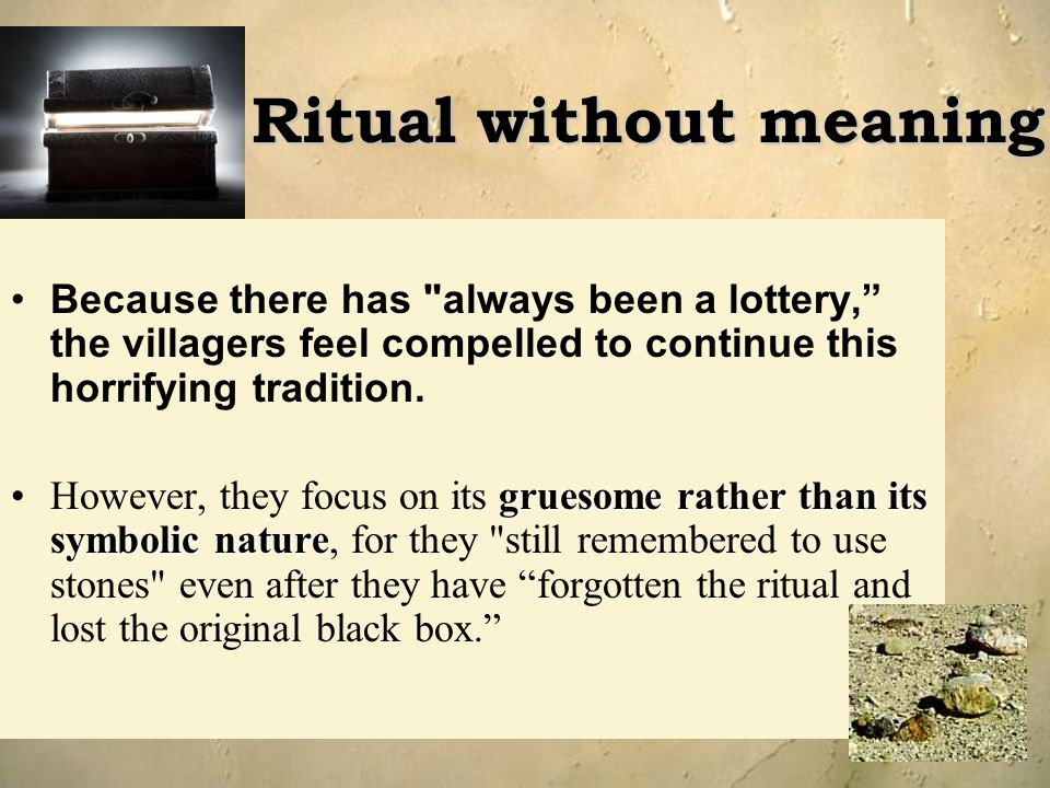 Ritual without meaning
