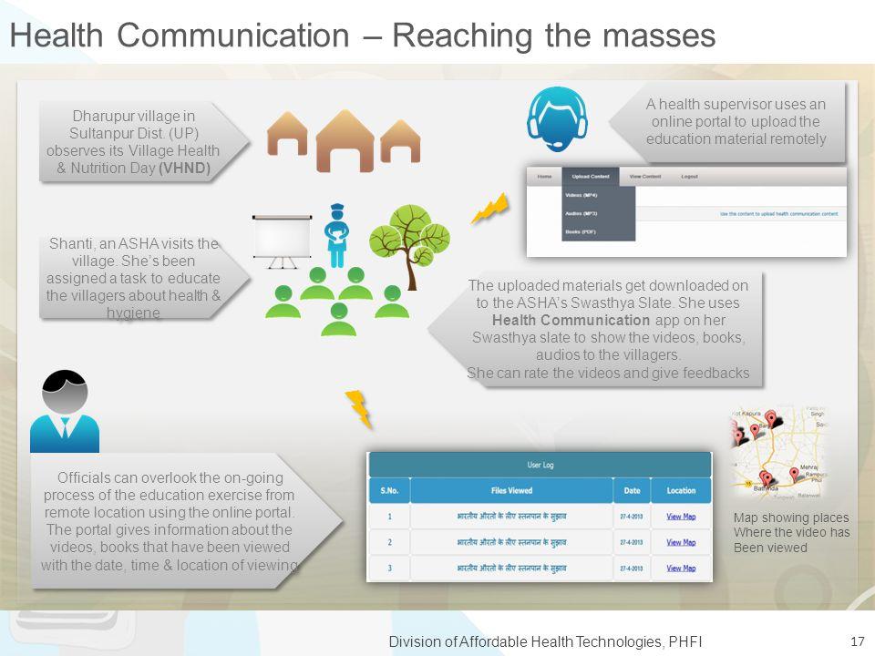 Health Communication – Reaching the masses