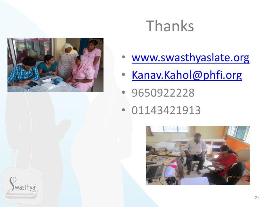 Thanks www.swasthyaslate.org Kanav.Kahol@phfi.org 9650922228