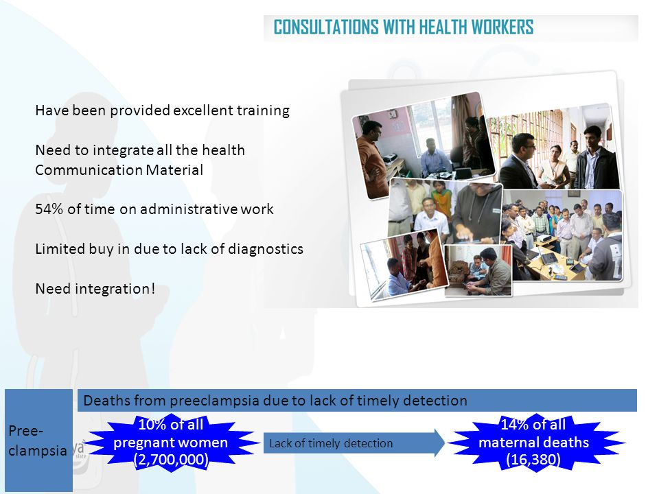 Have been provided excellent training Need to integrate all the health