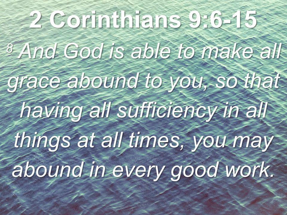 2 Corinthians 9:6-15