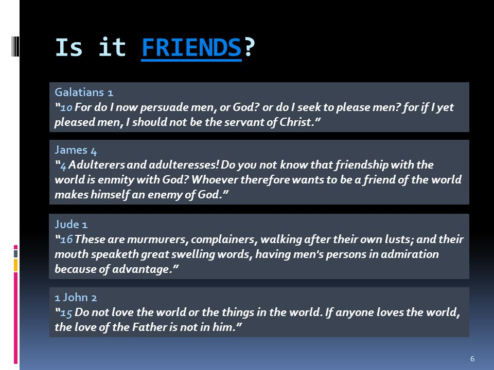 Is it FRIENDS Galatians 1