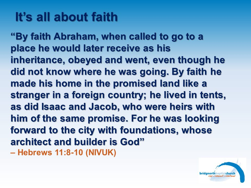 It's all about faith