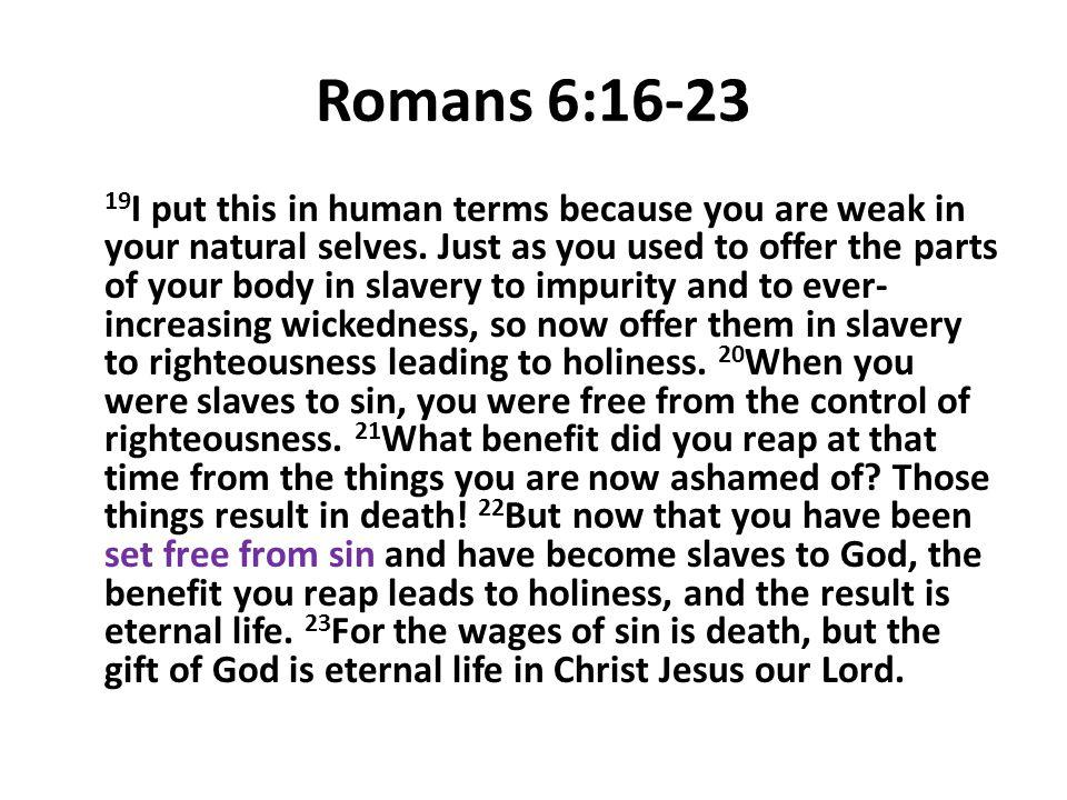 Romans 6:16-23