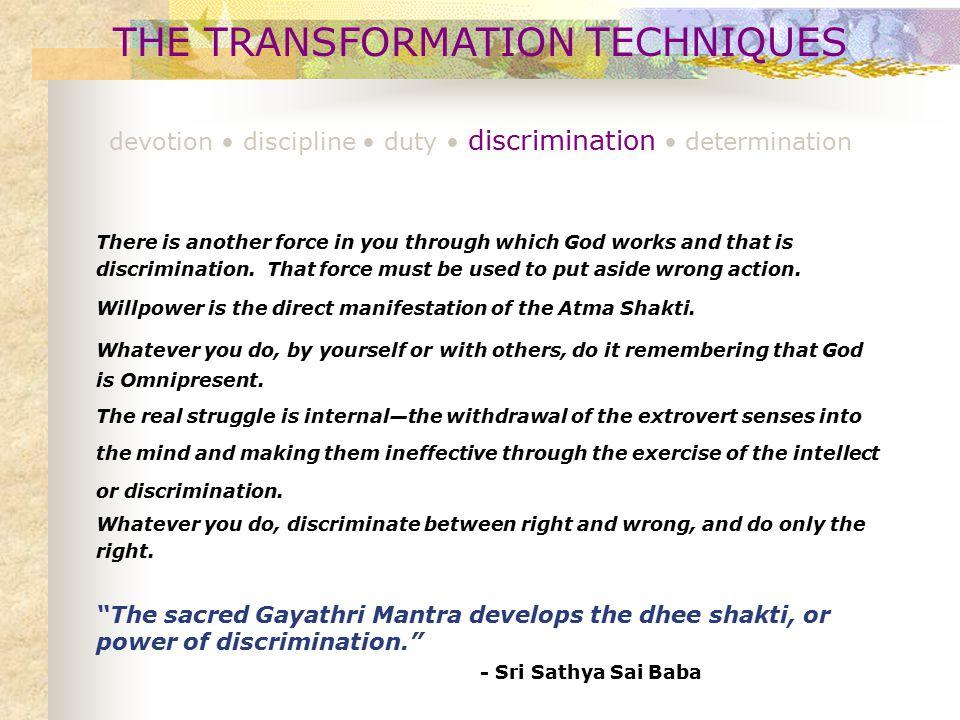 THE TRANSFORMATION TECHNIQUES