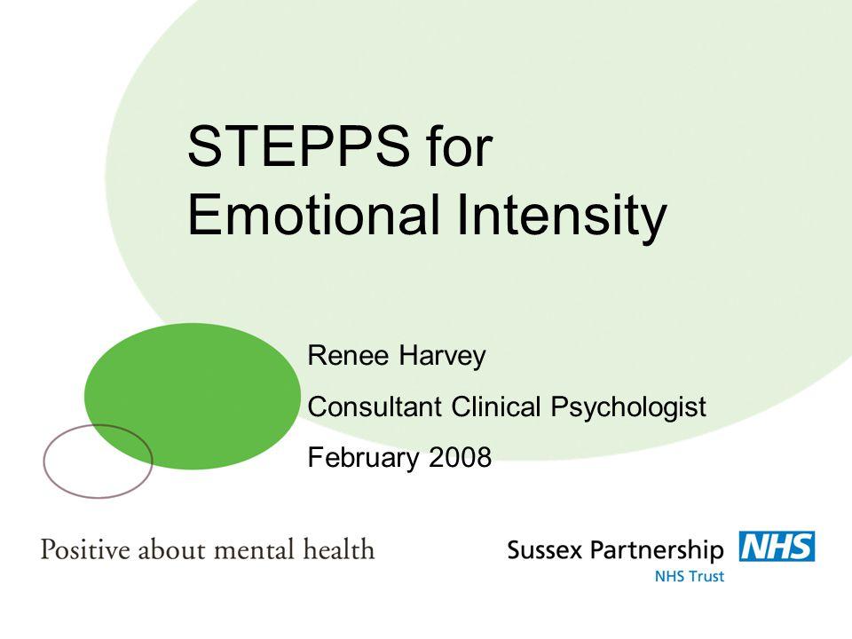 STEPPS for Emotional Intensity