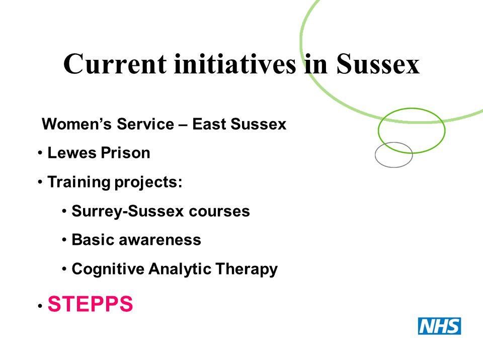 Current initiatives in Sussex