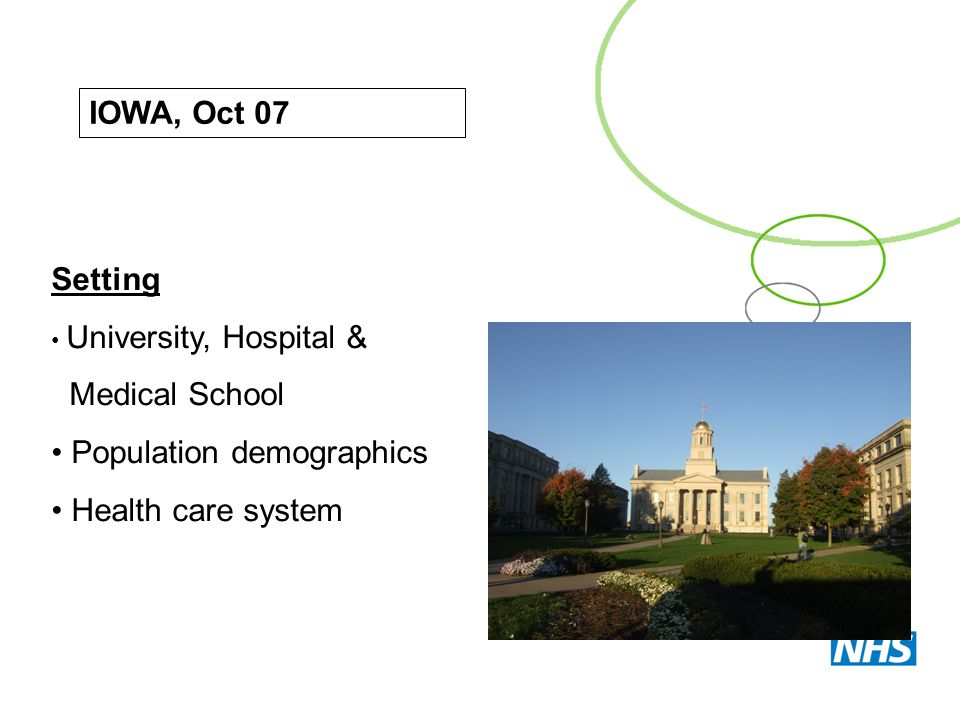 Population demographics Health care system