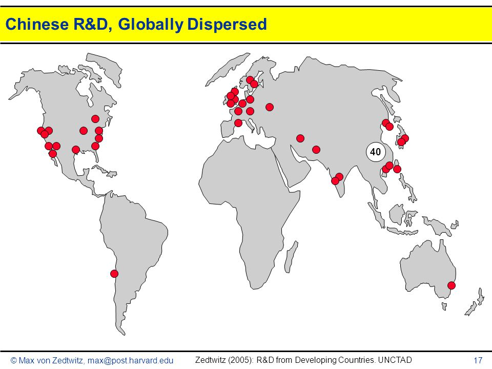Chinese R&D, Globally Dispersed