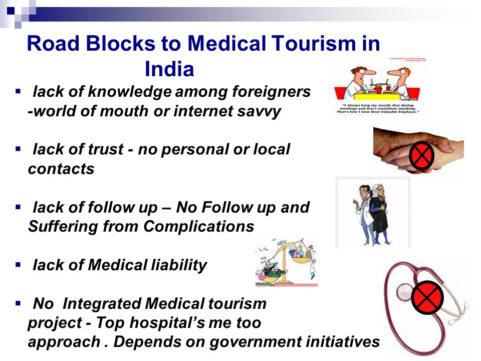 Road Blocks to Medical Tourism in India