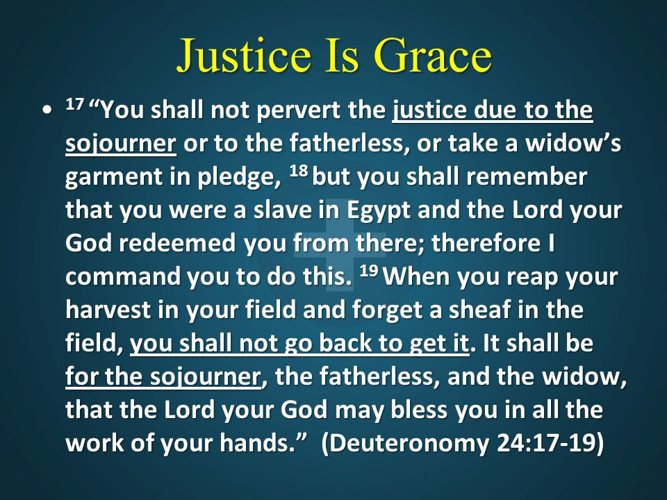 Justice Is Grace