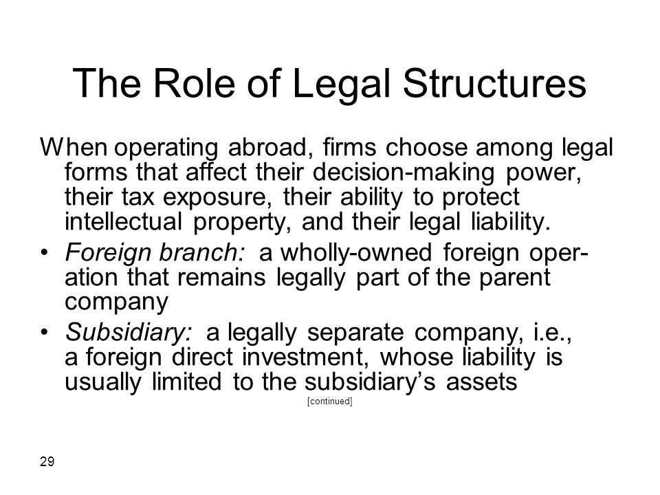 The Role of Legal Structures