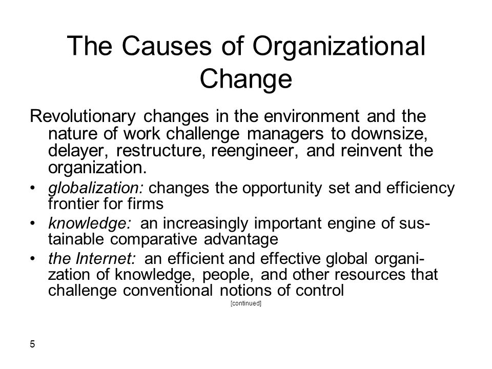 The Causes of Organizational Change