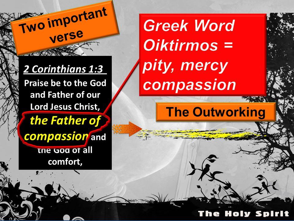 Oiktirmos = pity, mercy compassion